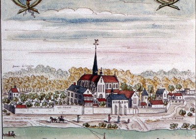 Dessin aquarellé coll. Gaignières, daté de 1696