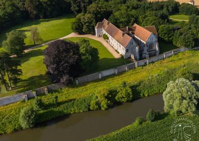 L'Abbaye de Bonport vue du ciel
