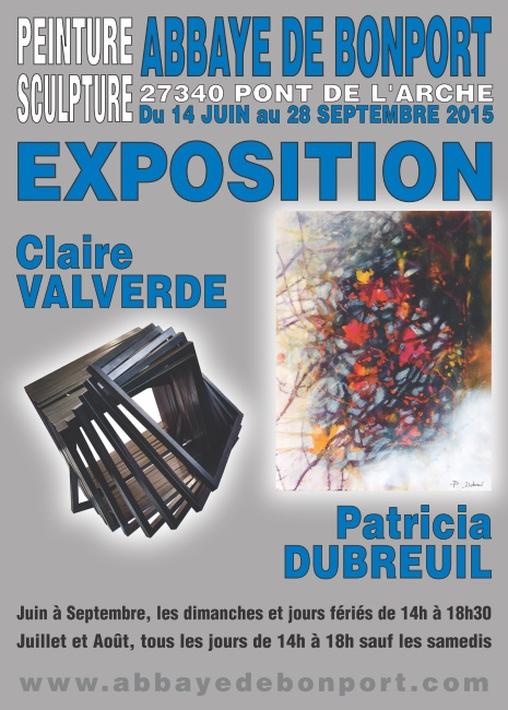 """Claire Valverde et Patricia Dubreuil – Exposition """"Peinture et Sculpture"""" du 14 juin au  28 septembre 2015"""