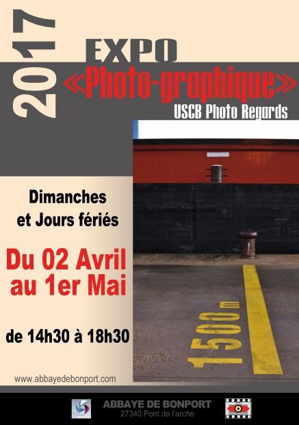 """Exposition de photographies """"Photo graphique"""" de l'association USB Photo Regards du 2 avril au 1er mai 2017"""